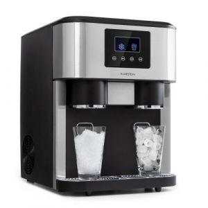 Klarstein Eiszeit Crush Machine à glaçons 18kg/24h 2 tailles de cubes - Argent