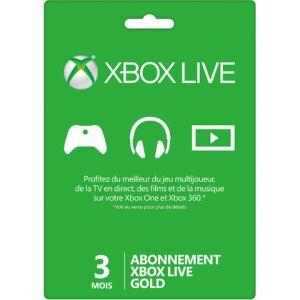 Microsoft Abonnement Xbox 360 Live 3 mois