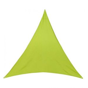 AC-Déco Toile solaire triangle Anori - 300 x 300 x 300 cm - Polyester - Vert