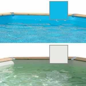 Ubbink Liner seul pour piscine bois Azura 3x4,90x1,20 m - Bleu