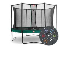 Berg Toys 35-14-03-00 - Trampoline Favorit 430 cm Tatoo + Safety Net Comfort