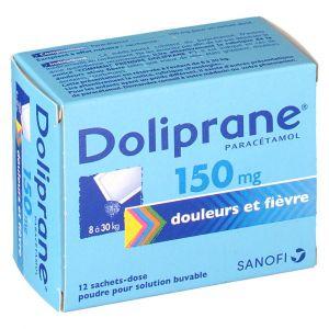 Sanofi Doliprane 150 mg - 12 Sachets (poudre)