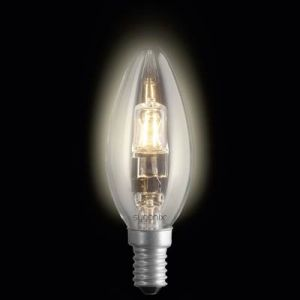 Sygonix Ampoule halogène Eco 28987X E14 42 W = 60 W blanc chaud forme de flamme à intensité variable 2 pc(s)