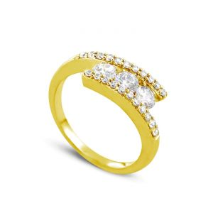 Rêve de diamants 3612030095863 - Bague en or jaune sertie de diamants