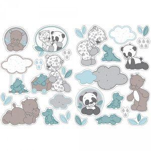 Nattou Stickers décoratifs Léa, Loulou & Hippolyte