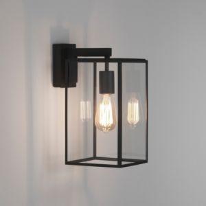 Astro Applique extérieure carrée transparente Box Lantern 350 IP23 - Noir