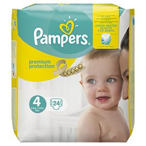 Pampers Premium Protection Taille 4Maxi 8-16kg Porter Pack - Lot de 4x24couches