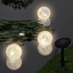 VidaXL Boule solaire LED flottant 3 pièces