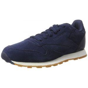Reebok Classic Leather SG-Grade School, Sneakers Basses Mixte Enfant, Bleu (Collegiate Navy/Chalk-Gum), 37 EU