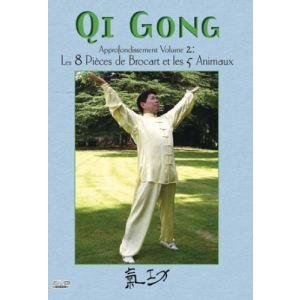 Qi gong : Approfondissement Volume 2 : Les 8 pièces de brocart et les 5 animaux