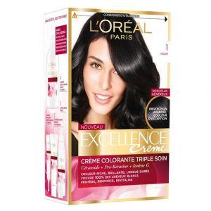 L'Oréal Excellence Crème 1.N Noir - Crème colorante triple soin
