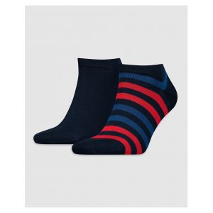 Tommy Hilfiger TH Men Duo Stripe Sneaker, Socquettes Homme, Bleu