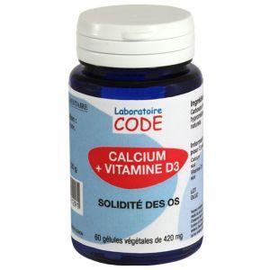 Laboratoire CODE Calcium + Vitamine D3 - 60 gélules