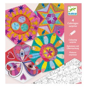 Djeco Coloriage surprise Mandala constellations