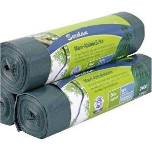 Secolan 1x5 sac poubelle maxi 240 l vert/noir