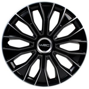 4 enjoliveurs noir/gris WRC Bicolor 15 pouces
