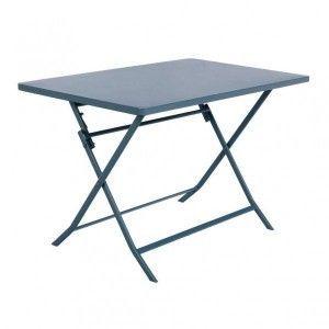 Hesperide Table de jardin rectangle Greensboro 110 x 70 cm Bleu orage