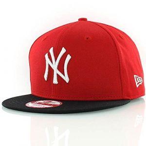 A New Era Mlb Cotton Block Ny Yankees Snapbacks casquette rouge noir