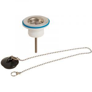 Plumbob Bonde d'évier avec bouchon et chaînette - 32 mm