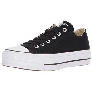 Converse Chuck Taylor CTAS Lift Ox Canvas, Chaussures de Fitness Femme, Noir (Black/Garnet/White 001), 39.5 EU
