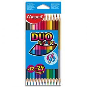 Maped Pochette de 12 crayons de couleurs Colorpeps Duo