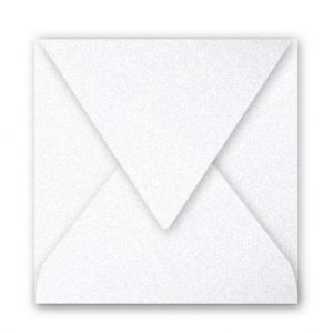 Clairefontaine 12085C - Enveloppe Pollen 120x120, 120 g/m², coloris blanc irisé, en paquet cellophané de 20