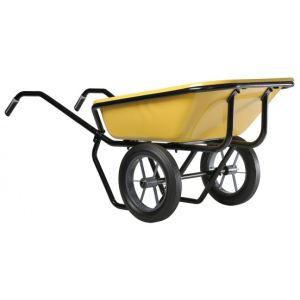 Haemmerlin 306023701 - Brouette Expert Twin peinte roues pleines 160 L