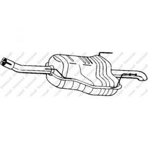 Bosal Silencieux arrière 185-129