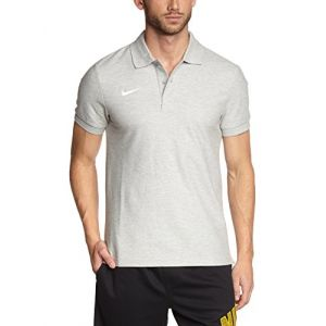 Nike Team Core T- T-Shirt Homme, Grey Heather/White, FR : M
