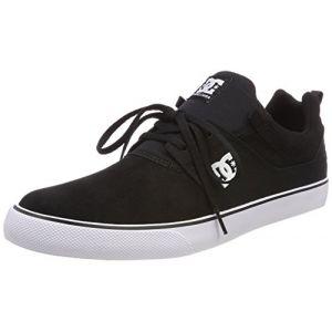 DC Shoes Heathrow Vulc, Chaussures de Skateboard Homme, Noir (Black/White BKW), 43 EU