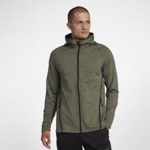 Nike Sweat à capuche de training à manches longues entièrement zippé Dri-FIT pour Homme - Vert - Taille L