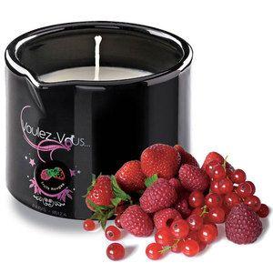 Voulez-vous Bougie de massage gourmande Fruits rouge