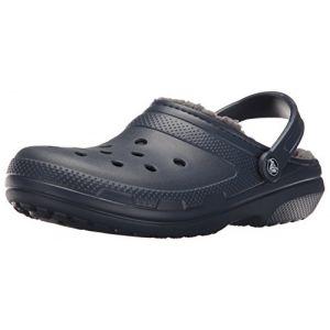 Crocs Classic Lined Clog, Sabots Mixte Adulte, Bleu (Navy/Charcoal), 37-38 EU