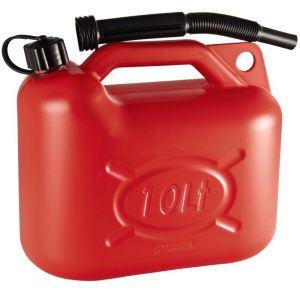 Ribimex PRJE10 - Jerrican haute densite pour essence 10 litres bec verseur
