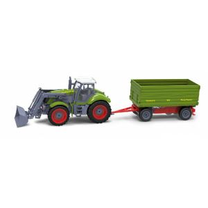 RayLine Tracteur radiocommandé avec remorque benne verte
