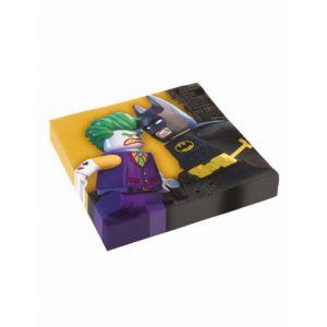 20 serviettes en papier Lego Batman (33 x 33 cm)