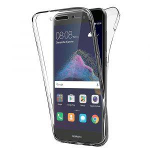 Pour Huawei P8 Lite (2017) 5.2/ P9 Lite (2017)/ Honor 8 Lite/ Nova Lite/ Gr3 (2017) (Non Compatible Version 2015/ 2016): Coque Housse Silicone Gel Ultra Mince 360° Protection Intégrale Avant Et Arrière - Transparent