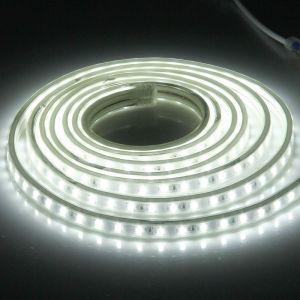WeWoo Ruban LED Waterproof Bande lumineuse IP65 SMD 5730 étanche à l'eau avec prise de courant, 120 / m, Longueur: 2 m, AC 220V lumière blanche