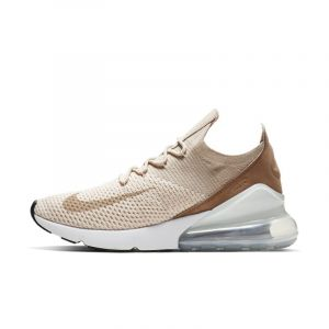 Nike Chaussure Air Max 270 Flyknit pour Femme - Crème - Taille 41