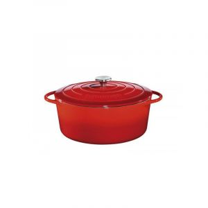 Küchenprofi 0402001433 Cocotte ovale en fonte émaillée 33cm rouge