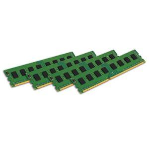 Kingston KVR1333D3N9K4/32G - Barrette mémoire ValueRAM 4 x 8 Go DDR3 1333 MHz CL9 240 broches