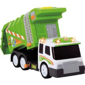 Dickie Toys Camion poubelle avec sons et lumières