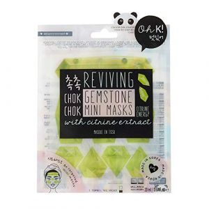 Oh K! Chok Chok Citrine Gemstone Mini Masks - Masque en Tissu - 20 ml