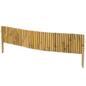 Windhager Bordure de plate bande en bambou 100 x 35 cm