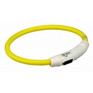 Trixie Flash anneau lumineux usb - L-XL: 65 cm/ø 7 mm, jaune