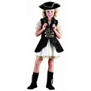 Déguisement pirate fille robe avec jupon (4 à 14 ans)