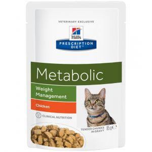Hill's Prescription Diet Metabolic feline - 12 Sachets 85 g