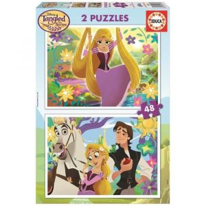 Educa 2 puzzles Raiponce (48 pièces)