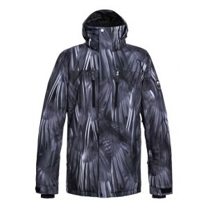 Quiksilver Men's Mission Printed Jkt black/stellar