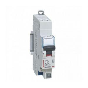 Legrand Disjoncteur DNX3 4500 - auto/auto - U+N 230V~ 10A - 4,5kA - courbe C - 1 mod (406782)
